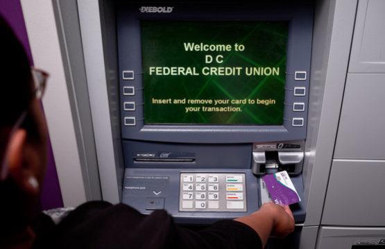 Member using an ATM
